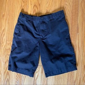 Brown Flat Front Shorts